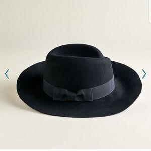 NWT Elizabeth and James Felt Panama Hat with Bow